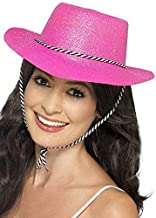 MA ONLINE Unisex Cowboy Suede Look Hat Adults Hen Party Stag Do Fancy Dress Accessory One Size