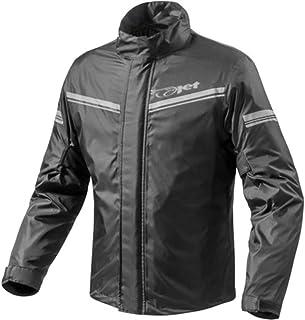 Jet Motorradjacke Regenjacke Regenbekleidung Wasserdicht mit Tragetasche (XL, Schwarz)