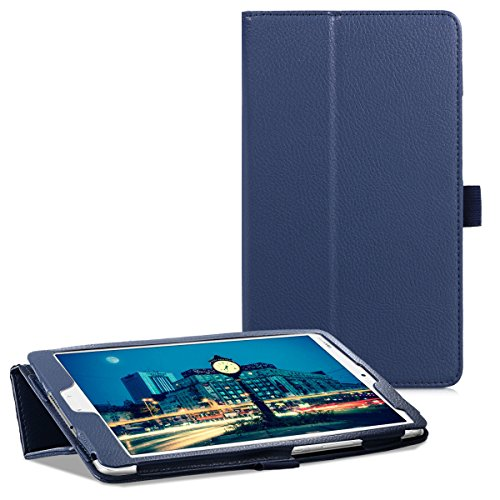 kwmobile Huawei MediaPad M3 8.4 Hülle - Tablet Cover Case Schutzhülle für Huawei MediaPad M3 8.4 - Dunkelblau mit Ständer - 5