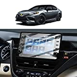 Screen Protector Foils for 2021 Camry GPS Navigation Display Tempered Glass 9H Hardness Anti Scratch HD Clear Toyota AXVH70 AXVH70N LCD Touch Screen Protective Film (2021 8In)