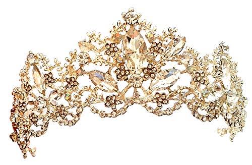 Tiara da Sposa - Corona da Sposa - Diadema - Damigella - Regina - Principessa - Compleanno - Pietre - Strass - Punti Luce - Donna - Ragazza - Matrimonio - Accessori Capelli - Tipo 11