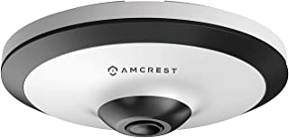 Amcrest Fisheye IP Camera, POE 5-Megapixel 360° Panoramic Security Camera, Indoor, 33ft Nightvision, Cloud, NVR and MicroS...