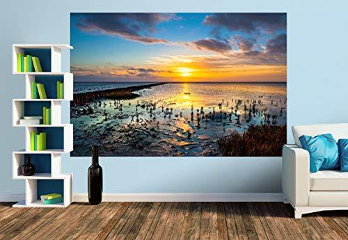 Premium Foto-Tapete Das Wattenmeer bei Utlandshörn (versch. Größen) (Size M   279 x 186 cm) Design-Tapete, Wand-Tapete, Wand-Dekoration, Photo-Tapete, Markenqualität von ERFURT