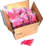 500 Box of Pink Razor Blades Disposable Stainless Steel Hospitality Quality Shavers High End Twin Blade Razors for Men and Women with Aloe Vera Lubrication Strip