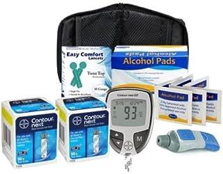Bayer Contour Next Ez Meter, Bayer Contour Next Test Strips,30g Lancets, Lancing Devices,Alcohol Prep Pads