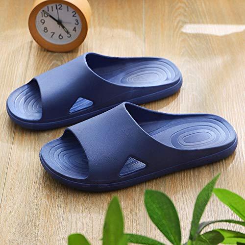 Verano Antideslizante Zapatillas de Baño,Zapatillas de Interior Antideslizantes, Sandalias de baño Pareja-Azul Marino_40-41,Playa para Hombre Zapatillas