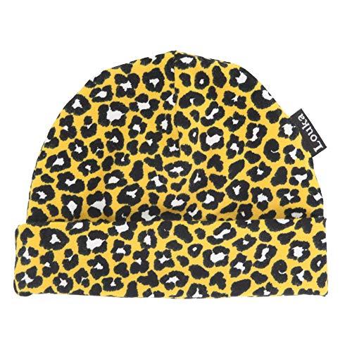 Louka babymuts (met naam) Panther okergeel - muts, hoed met geborduurde baby namen voor pasgeborenen baby - unisex jongens meisjes Jersey - handgemaakt!