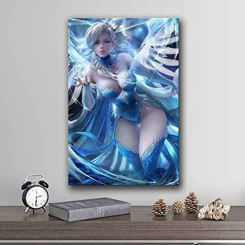 Olieverf canvas achtergrond muur opknoping The Gameati of The Overwatch Geschikt voor woonkamer in galerij kamer met loopbrug (70x95cm No Frame)