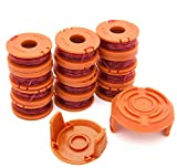 WA0010 Replacement Trimmer Spool, Edger Spool Compatible with Worx Trimmer String, Weed Eater String WG180 Spool Refills 10ft 0.065 Inch Trimmer Line, GT Spools, WA0004 Spool, Weed Wacker Parts