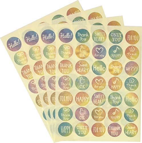 和紙 和紙 マスキングポイントシールステッカー 140枚 直径1.5cm 装飾スクラップブック用品 文房具 文房具 日本 (メッセージ)