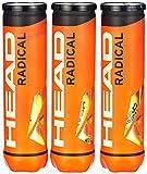 HEAD Radical - Pelota de tenis, color amarillo (Paquete triple)