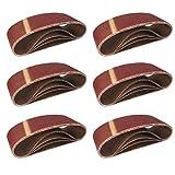 Cinturones de Lijado de Tela │ 10 piezas │ 75 x 457 mm │ grano 80 │ para para amoladoras de cinta │ Papel de Lija │ Juego de Correas de Lijado