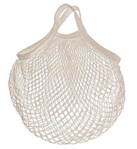 Bolsa de malla reutilizable para la compra Blanca