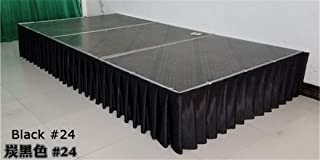 Ice Silk Wedding Table Skirt Table Skirting For Table Cloth Table Cover Wedding Party Banquet Birthday Decoration Black H30cm X W300cm