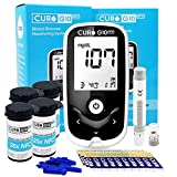 CURO G10 Glucose Home Test Kit - Device and Set of 110 Test Strips : NFC Enabled Connect with CUROfit (App) on iOS & Android Devices