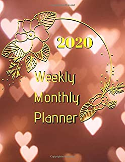2020 Weekly Monthly Planner: 2020 Weekly/Monthly Planner, Calendar Schedule Organizer Agenda Appointment Notebook Yearly Diary Journal Notebook,  Appointment Calendar