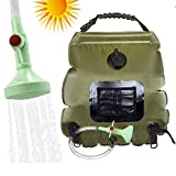 Wifond Solar Shower Bag, 5 gallons/20L Solar Heating Premium Camping Shower Bag Hot Water with Temperature...