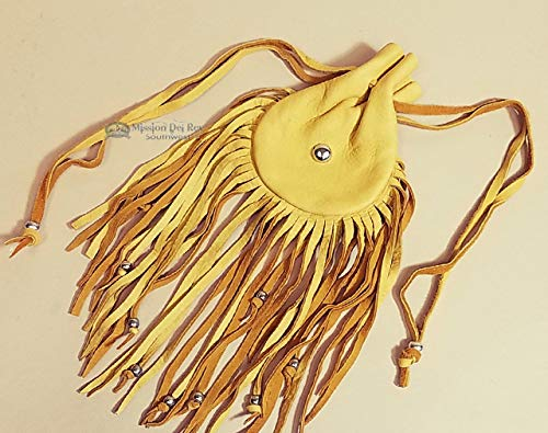 Native American Medicine Bag 4.5' -Pueblo Indian Large Mouth Medicine Pouch, Possible Bag