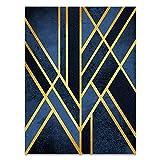 U/N Lienzo geométrico Abstracto Moderno con Forma de Arte, Pintura de Pared, póster e impresión, Sala de Estar contemporánea, decoración del hogar, Imagen-3
