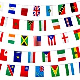 BucketList 200 World Country Flags International Banner, 165 Feet 8.2'' x 5.5'', for Party, Classroom Decoration, Bars, Sport, Events, School Festivals, Celebrations +Country Fun Facts Guide eBook