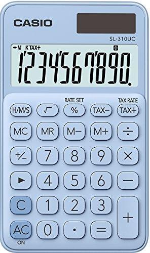 Casio - Calculadora de bolsillo, 10dígitos, color azul claro 310UC-LB Taschenrechner, 10-stellig