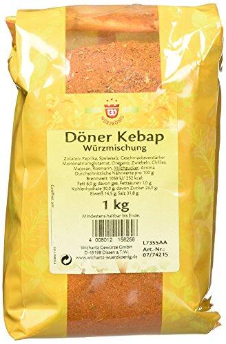 Wichartz Würzkönig Döner Kebap Würzer, 3er Pack (3 x 1 kg)