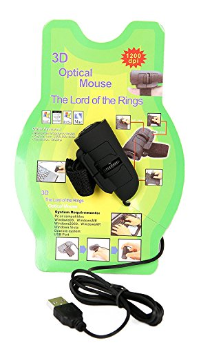 USB Finger Mouse Optical Laptop Notebook PC 1200DPI