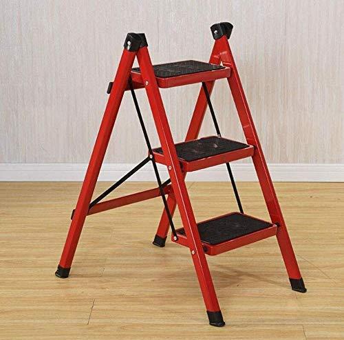 yjll ladder kruk ijzeren buis binnen aluminium ladder multifunctionele huishoudladder drietrapstoel eenzijdige ladder