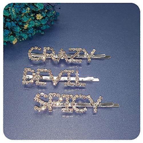MUBFT parel haarclip 3 Stks/Set Crystal Word Haarspelden Haar Bobby Pins Groothandel Shinning Zilver Tone Haarclips Haaraccessoires