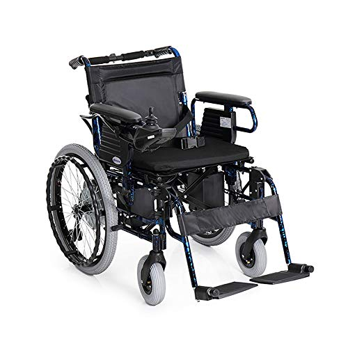 GY Silla de Ruedas eléctrica Rueda pequeña Aleación de Aluminio Ligero y desmontaje Plegable Pasamanos Old Scooter para discapacitados - Negro