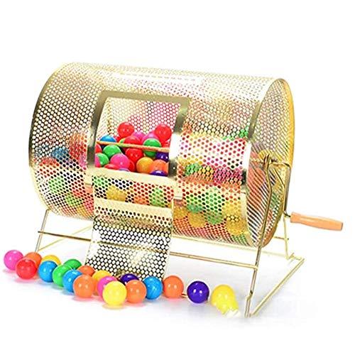 JDH Brass Raffle Drawing Ticket Drum, Spinning Lottery Bingo Poker Raffle Drum, Lottery Spinning Draw Einfache Bedienung Mühelos, für Bars Entertainment-Veranstaltungsorte