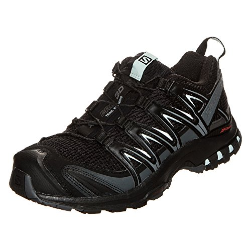 Salomon Damen Trail Running Schuhe, XA PRO 3D W, Farbe: schwarz (black/magnet/fair aqua) Größe: EU 40