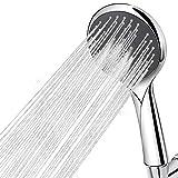 Handheld Shower Head, Wodgreat High Pressure Hand Shower Sprayer 5 Settings with 60 Inch Stainless Steel Hose, Anti-leak, Adjustable Swivel Ball Bracket, Install Easily, Chrome