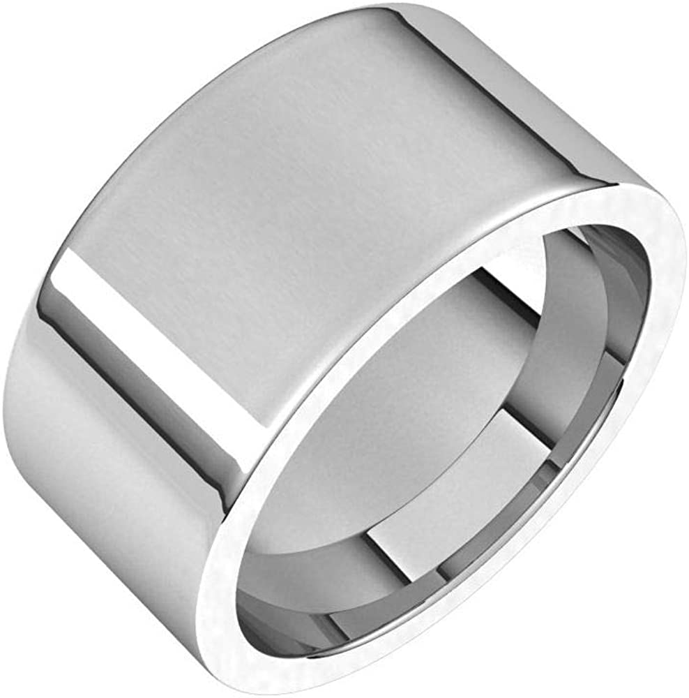 Solid Palladium 10mm Flat Comfort Fit free shipping Mens Max 52% OFF Ring Band Wedding Hea