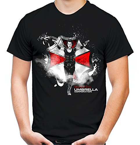 Resident Evil Männer und Herren T-Shirt | Umbrella Corporation Zombie ||| M2 (M, Schwarz)
