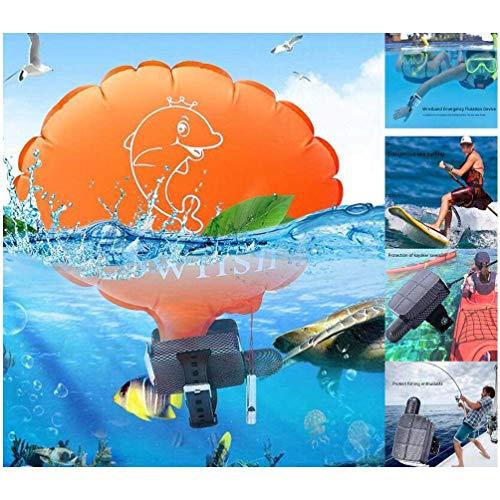 GJNWRQCY Equipo de Emergencia de natación, Seguridad portátil Salvavidas Pulsera antiahogamiento Auto-Rescate Flotador Pulsera Correa de Mano Inflable