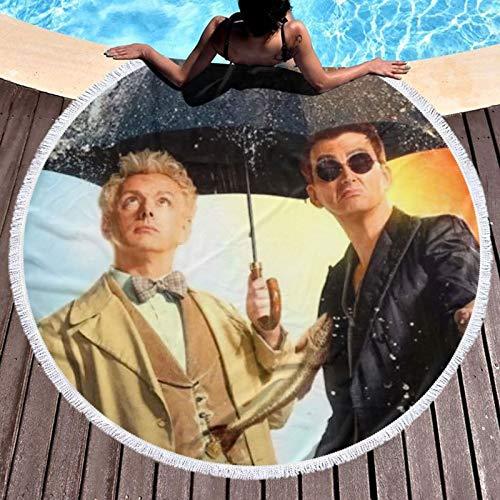 Go_od Om_ens - Toalla de baño para baño, súper absorbente, de secado rápido, para hotel, playa, gimnasio, camping, piscina, baño, para niños, redondo, 132 cm