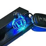 VILLSION Llavero de Coche Emblema de Cristal Brillante Luz 7 Colores Luz de Logo LED Llavero