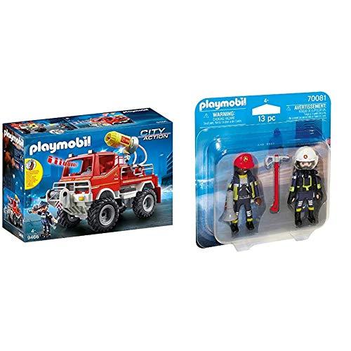 Playmobil City Action 9466 Feuerwehr-Truck mit Licht- und Soundeffekten, Ab 5 Jahren & 70081 Duo Pack DuoPack...