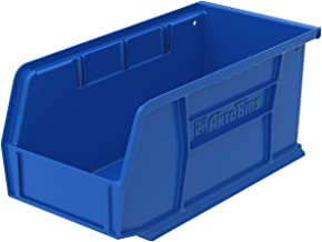 Akro-Mils 30230 Plastic Storage Stacking Hanging Akro Bin, 11-Inch by 5-Inch by 5-Inch, Blue, Case of 12