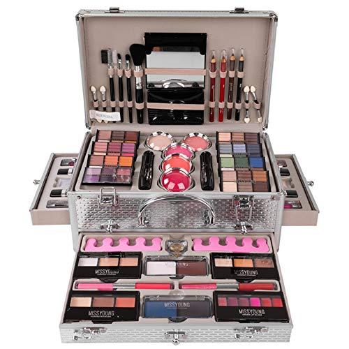 JasCherry Juego de Maquillaje Set Estuche de Maquillaje Paleta Kit Completo Caja con Sombras de ojos, Rubor, Brillo labios - Belleza Profesional Cosmético de Caja Belleza Juego de Regalos #1