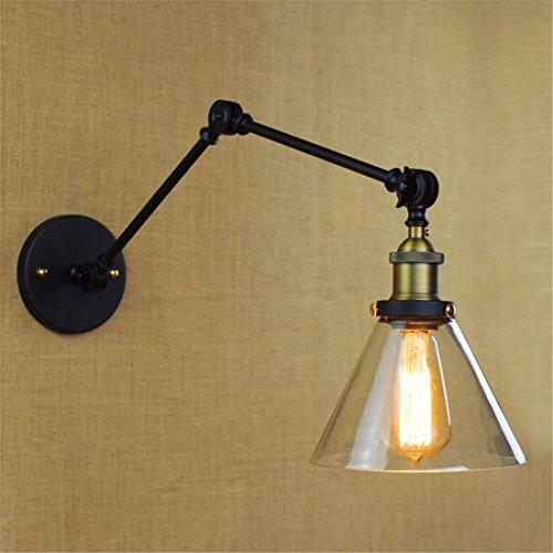 JJZHG wandlamp wandlamp retro wandlamp creatieve buiten slaapkamer wandlamp, zwart omvat: wandlampen, wandlamp met leeslamp, wandlamp met stekker, wandlamp schaduw