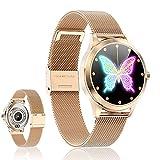 Smartwatch Reloj Inteligente - Smart Watch Mujer Impermeable IP68 con Monitor de Sueño Pulsómetros Cronómetros Contador de Caloría, Pulsera de Actividad Inteligente con iOS y Android