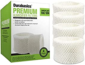 Durabasics 4 Pack of Premium Humidifier Filters Compatible with Honeywell Humidifier Filter HAC-504, HAC-504AW & Honeywell Filter A   Replacement for Honeywell Filter HCM 350 & Cool Mist Humidifiers
