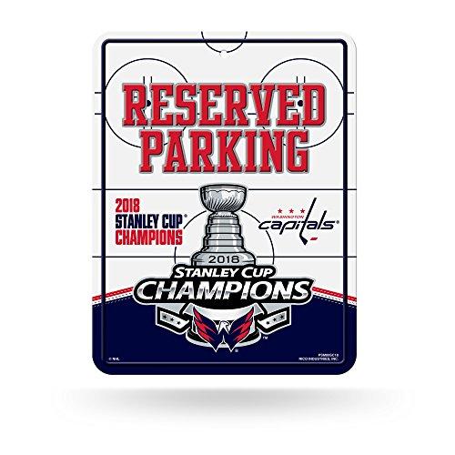 Rico Industries NHL Washington, Capitals 2018 Stanley Cup Champions 20,3 x 27,9 cm, Metall Parkschild Dekor