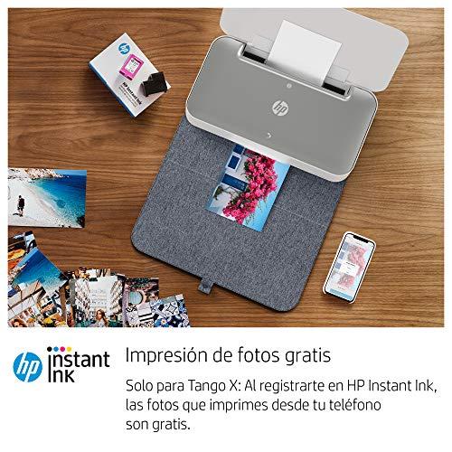 HP Tango X - Impresora (Imprime, Copia y Escanea desde el Móvil, Conectividad Wi-Fi, Incluye 12 meses de Impresión Gratis con HP Instant Ink) Color Blanco, con Funda