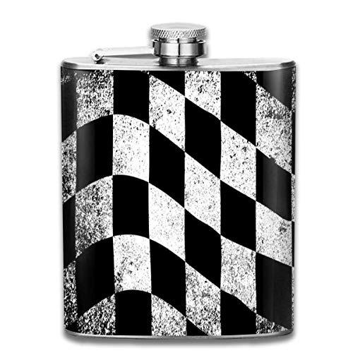 Flesje Geruit Vlag RVS Kleine Hip Flask Mens Lekvrij Vlagon Outdoor Draagbare Flesje voor Alcohol Whiskey Rum en Vodka