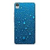 FUBAODA para BQ Aquaris E5 4G Case, [Gotas de Agua Azul] para BQ Aquaris E5 4G Funda Carcasa Silicona Gel Case Ultra Depara LGado TPU Goma Flexible Cover Protectora para para BQ Aquaris E5 4G