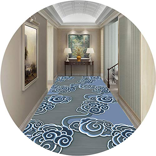 Carpet Runner Runner Rugs Hallway Aisle Stairs Pad Rectangle Non-slip Carpet Washable Can Be Cut (Color : A, Size : 1x7m)