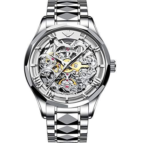 Verhux Reloj Automático de Pulsera Acero Inoxidable Impermeables Mecánico Regalos de Relojes para Hombres